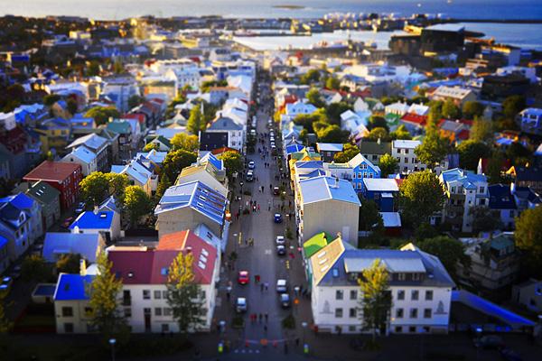 View of Reykjavík from Hallgrímskirkja's tower