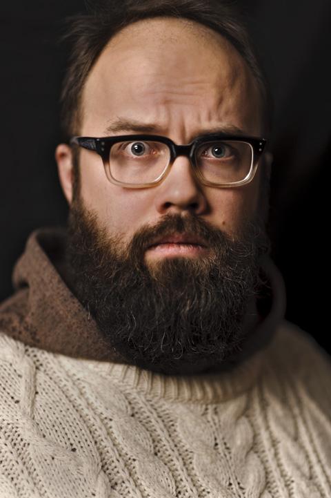 Portraits of Icelandic musician Bjorn Kristjansson in Reykjavik, Iceland